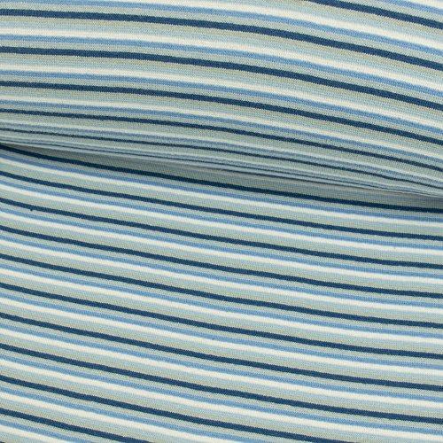 Stoffe Werning Puños plástico Rayas Azul Ringel Puños Azul Manguera Ware–Precio DE 0,5Metro