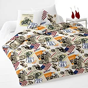 Route 66 Duvet Cover Set Amazon Co Uk Kitchen Amp Home