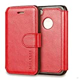 Coque iPhone 4S,MULBESS Layered Dandy Étui Housse en Cuir Premium Flip Case...