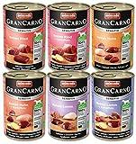 Animonda Gran Carno Hundefutter Adult Sensitiv Mix, Nassfutter für ausgewachsene Hunde von 1-6 Jahren, 6er Pack (6 x 400 g)