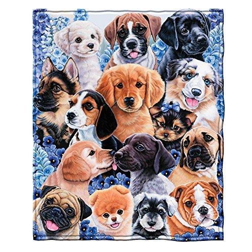 Dawhud Direct Puppy Collage Fleece Überwurf Decke von Jenny Newland Collage Fleece