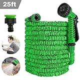 SaponinTree Tubo da Giardino, 25FT Acqua Estendibile con 7 Funzione di Spruzzo, Estensibile Tubo Irrigazione, Super Leggero Resistente in Tessuto Wonder per Giardino di Casa