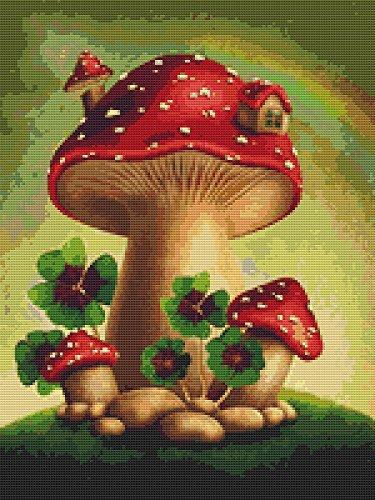 2 Seite Layout Kit - Mushroom Home 2Kreuzstich Muster (nicht eine