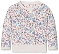 Fat Face Girl's Floral Print Crew Sweatshirt, Beige (Natural), 4-5 Years