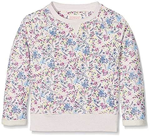 Fat Face Floral Print Crew, Sweat-Shirt Fille, Beige (Naturel), 12-13