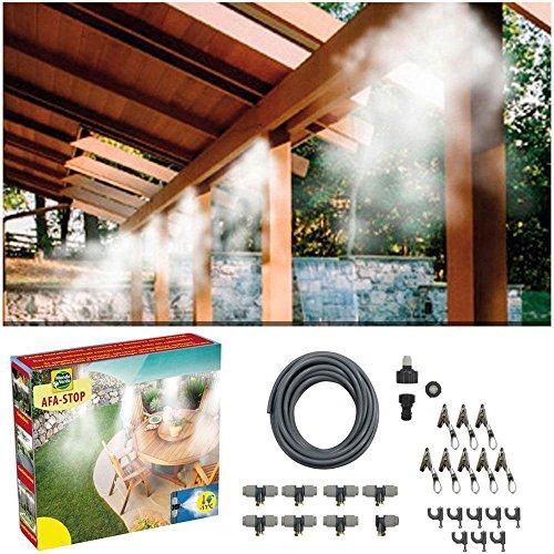 Kit set nebulizzatore ad acqua impianto di raffreddamento nebulizzazione per ombrellone gazebo refrigerio 15 metri casa vacanze