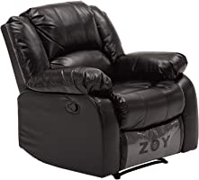 Zoy Bear PU Leather Recliner - Black