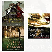 gentleman bastard sequence series scott lynch 3 books collection set - (the lies of locke lamora,red seas under red skies,the republic of thieves)