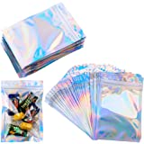Mylar Zip Lock Tassen, 100 Stks Clear Golden Resealable Mylar Tassen, Aluminium Foil Tassen Duurzame Dubbelzijdige Metallic F