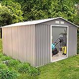 Concept-Usine Sancy 10.85 m² : abri de jardin en metal anti-corrosion gris
