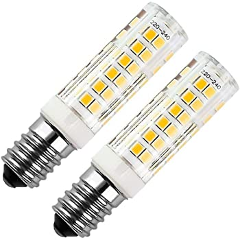 E14 bombilla LED 7W 500LM, ZSZT rosca Edison pequeña (SES), equivalente a bombilla halógena de 50W, Blanco cálido 3000K, 2 Piezas