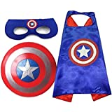 Fancy Steps Captain America Sheild, Cape and Eye Mask Costume Set