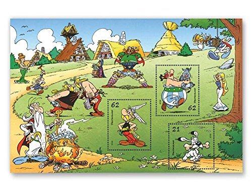 Preisvergleich Produktbild Asterix & Obelix | Briefmarken-Block |Deutsche Post | postfrisch |Idefix |Miraculix |Majestix |Automatix |Troubadix |Falbala |Methusalix | Ausgabetag 1. September 2015