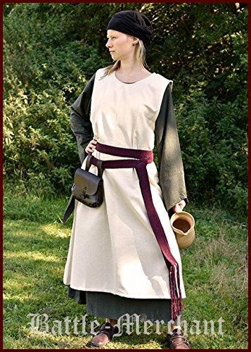 Mittelalterkleid Überkleid Milla Dienstmädchenkleid Zofe verschiedene Farben S-3XL Mittelalter, LARP, Wikinger Kostüm (M, ()