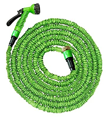 100 Ft Garden Hose Pipe Expandable Hose Pipe | Super Light Weight Expandable Hose Pipe | Natural Latex Triple Layer | 7 Setting Sprayer | Expanding Hose | Magic Hose Expands up to 30 metres / 100 ft