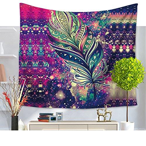 gemalte estampado de plumas Mandala druckte étnico 2149-N playa Techos de tapiz para psicodélicas wohnheim Home Decor, multicolor, 79*59in
