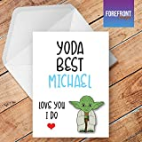 Personalizzato 'Yoda Best' Star Wars Yoda biglietto d' auguri–qualsiasi testo per tutte le occasioni o eventi–Compleanno/Natale/matrimonio/anniversario/fidanzamento/FATHER' S DAY/Mother' s Day