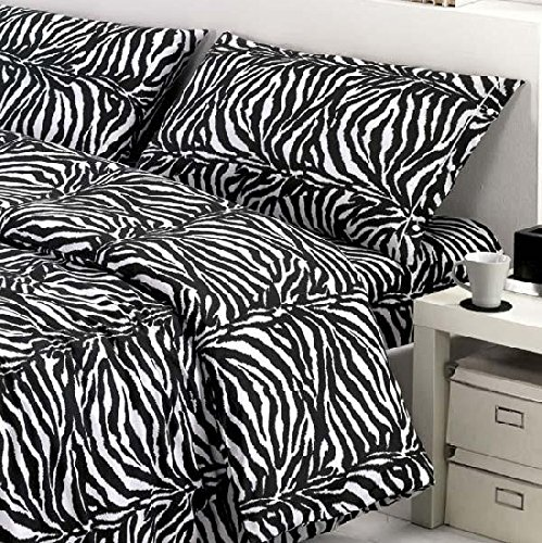 Couette simple (une place) zèbre sexy Zebra - sac couette idée cadeau Produit italien - Fabriqué en Italie