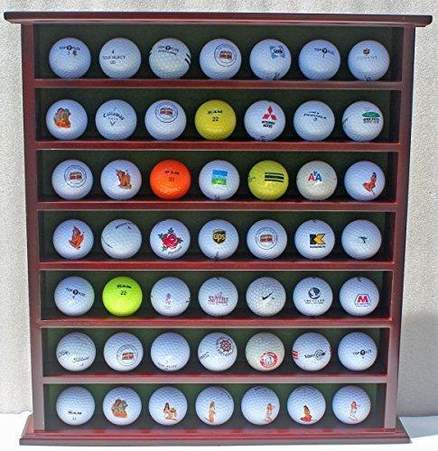 Display Gifts Inc. Cadeau de Golf, 49-Ball Vitrine Armoire Rack, Finition Acajou Gb20-mah