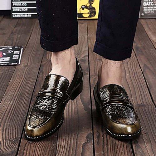 ZXCV Scarpe all'aperto Le calzature appuntite degli uomini petteggiano le scarpe a pedale Bronzo