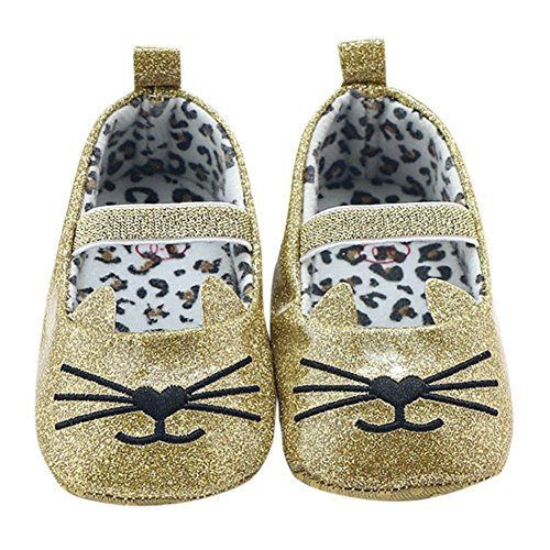 MiyaSudy Neugeborenen Baby Mädchen Schuhe Weiche Sohle Anti-Rutsch Mokassins Erste Wanderer 0-18 Monate Gold