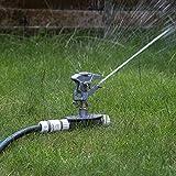 Irrigatore professionale Impulse in metallo, con 3 punte per fissarlo al terreno, compatibile con Hozelock, resistente