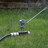 Professional Impulse Metal 3x Spike Garden Sprinkler Hozelock Compatible Sprayer Heavy Duty