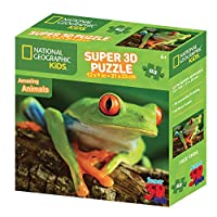 """National Geographic """"Super 3D Effect Tree Frog"""" Puzzle (63-Piece)"""