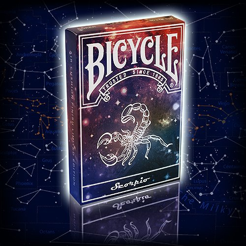 Bicycle Constellation Series Playing Cards - Scorpio / Skorpion, LIMITED EDITION Playing Cards, Pokerkarten + 3 Look and Feel - Karten