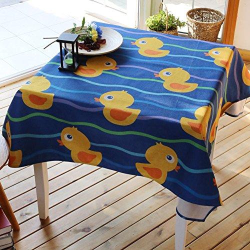 10-fuß-billardtisch (Fisch Tisch Tuch Baumwolle Bettwäsche–memorecool Haustierhaus Cartoon Lovely Design 100% Gesunden Erfahrung Best Geschenke 99,1x 139,7cm, baumwolle, Ente, 55x71inch)