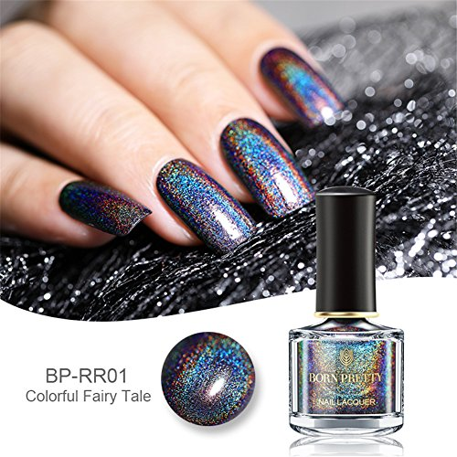 Born Pretty 6ml Holographic Holo Glitter Super Shine Nail Art Polish (Leuchten in der Dunkelheit) -