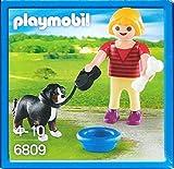 Playmobil 6809 - Girl with Dog, Bone and Bowl -