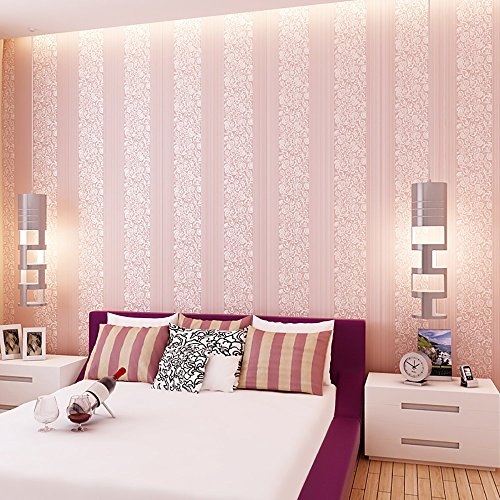 3D dreidimensionale vlies wilde vertikale streifen tapete wohnzimmer schlafzimmer TV hintergrund wand pape kaufen drei erhalten eine ( Color : Pink )