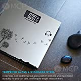 #8: MCP Tempered Glass Designer Digital Personal Weighing Scale With Step On Technology (SILVER)