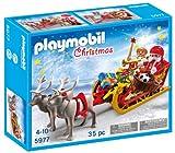 Playmobil 5977 Weihnachtsmann mit Christkind im Renntier Schlitten