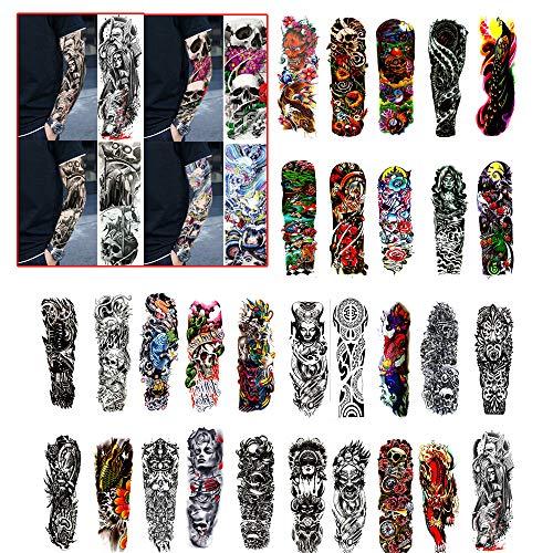 @Y.T Tattoo-Aufkleber Tattoo-Aufkleber für den ganzen Arm Tattoo-Aufkleber für Männer und Frauen Tattoo-Einweg-Tattoo-Aufkleber (30 Fotos)