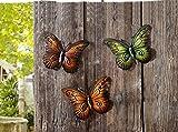 TFH Wanddeko Schmetterling 3er Set bunt Metall Wandverzierung Gartendeko modern...