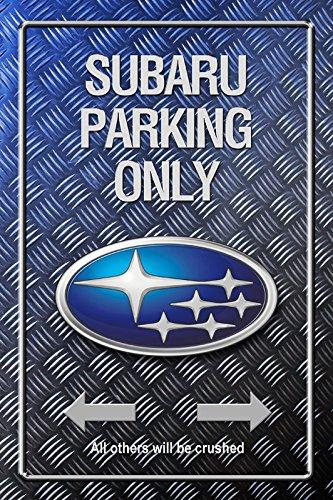 Subaru Parking only Metallic blechschild