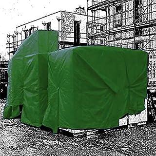 Abdeckplane Gewebeplane 160gr/m² grün / weiß (6 x 8, weiß)
