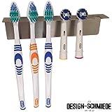 Zahnbürstenhalter aus Edelstahl auch für Aufsteckbürsten, Auswählbar ob für 2, 3, 4, 5, 6, 8 oder 15 Bürsten
