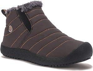 Kinder Winterschuhe Jungen Mädchen Schneestiefel Wasserdicht Warm gefütterte Schlupfstiefel Winter Stiefel Sneaker Schuhe