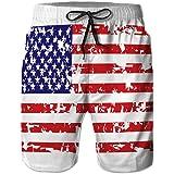 LJKHas232 Bañador de Hombre Cintura elástica Trajes de baño Grunge Bandera Americana