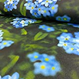 AS Creation Blume Muster Fototapete Floral nicht-gewebte Strukturierte Green Blue Yellow 959322