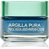 L'Oréal Paris Maschera per il Viso Argilla Pura, Azione Anti-Imperfezioni, Agisce sui Punti Neri e Ristringe Pori, con…