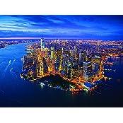 "Image of 60 x 80 centimetri Jason Hawkes Tela stampa ""New York"""