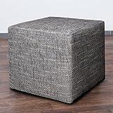 Möbelbär 8009-02 Sitz-würfel / -hocker 45 x 45 x 45 cm, bezogen mit robustem Magma Webstoff, dunkelgrau