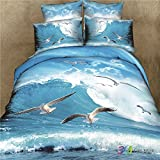Ccwy Dessin animé Imprimé animal Parure de lit en coton et lin Cotton-d 4 ensembles, 100 % coton, 2 meter bed four set, Blueberry beauty