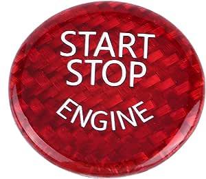Start Stop Button Schalterabdeckung Kohlefaser Auto Motor Start Stop Button Schalterabdeckung Für 1 7 Serie X1 X3 X6 Rot Auto