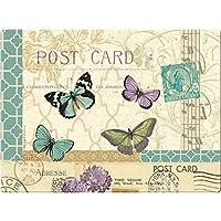 Creative Tops - Tabla de cortar y protector para encimeras (crista endurecido), diseño de postal con mariposas