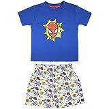 Cerdá Pijama Niño de Spiderman-Camiseta + Pantalon de Algodón Juego Niños